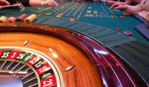 roulette table close up look