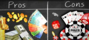 pros and cons of betting on online poker