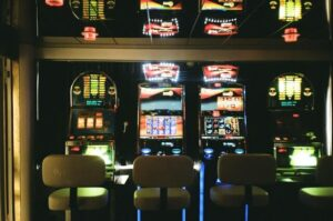 pokies with chairs in a austrialian casino
