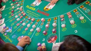 baccarat table banker or player