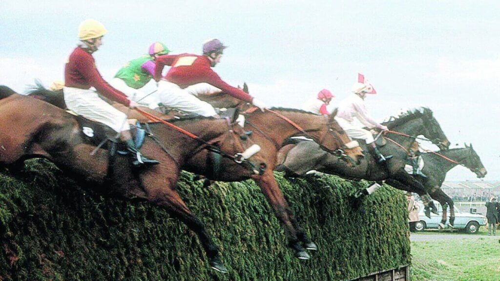 Crisp vs Red Rum horse race