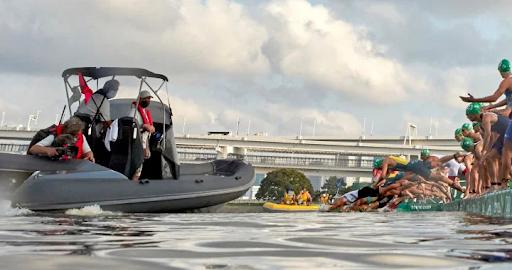 Men's Olympics Triathlon Boat Fail