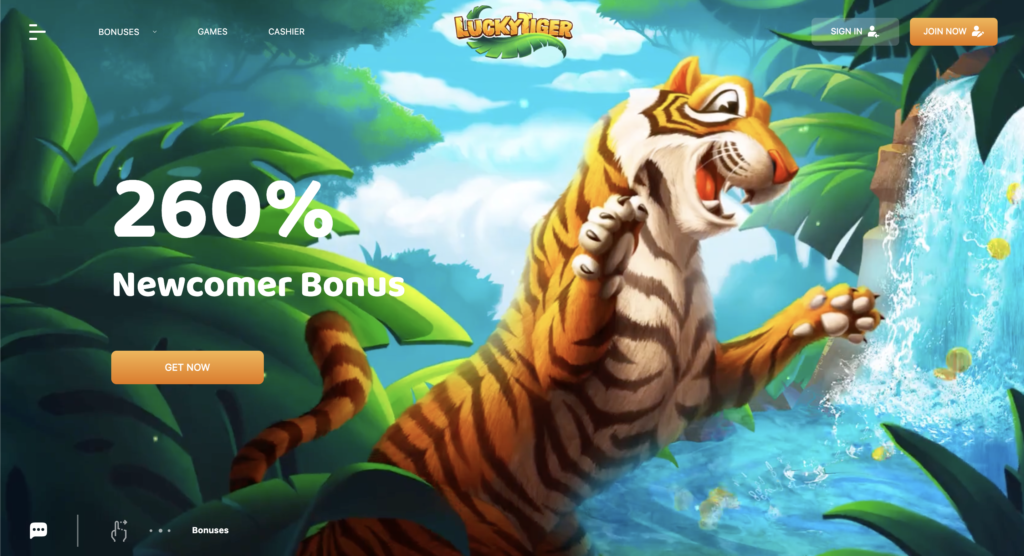Lucky Tiger Casino Homepage
