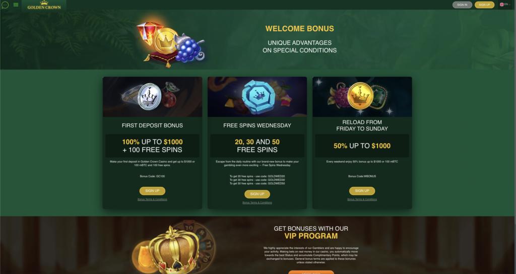 Golden Crown Casino Promotion