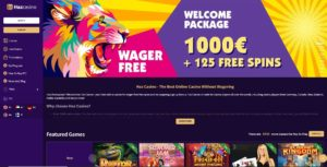 Haz-casino-home-page