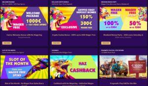 haz promotions page Haz Casino Review