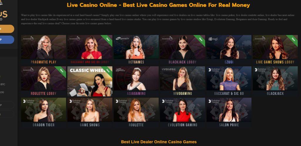 horus live casino Horus Casino Review