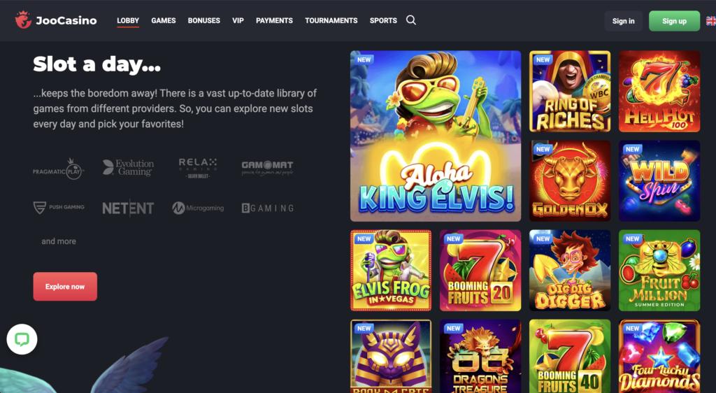 Joo Casino Homepage