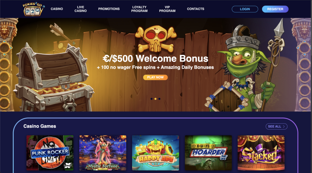 pokies2go casino homepage