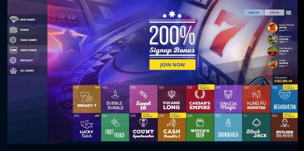 true blue home page True Blue Casino Review